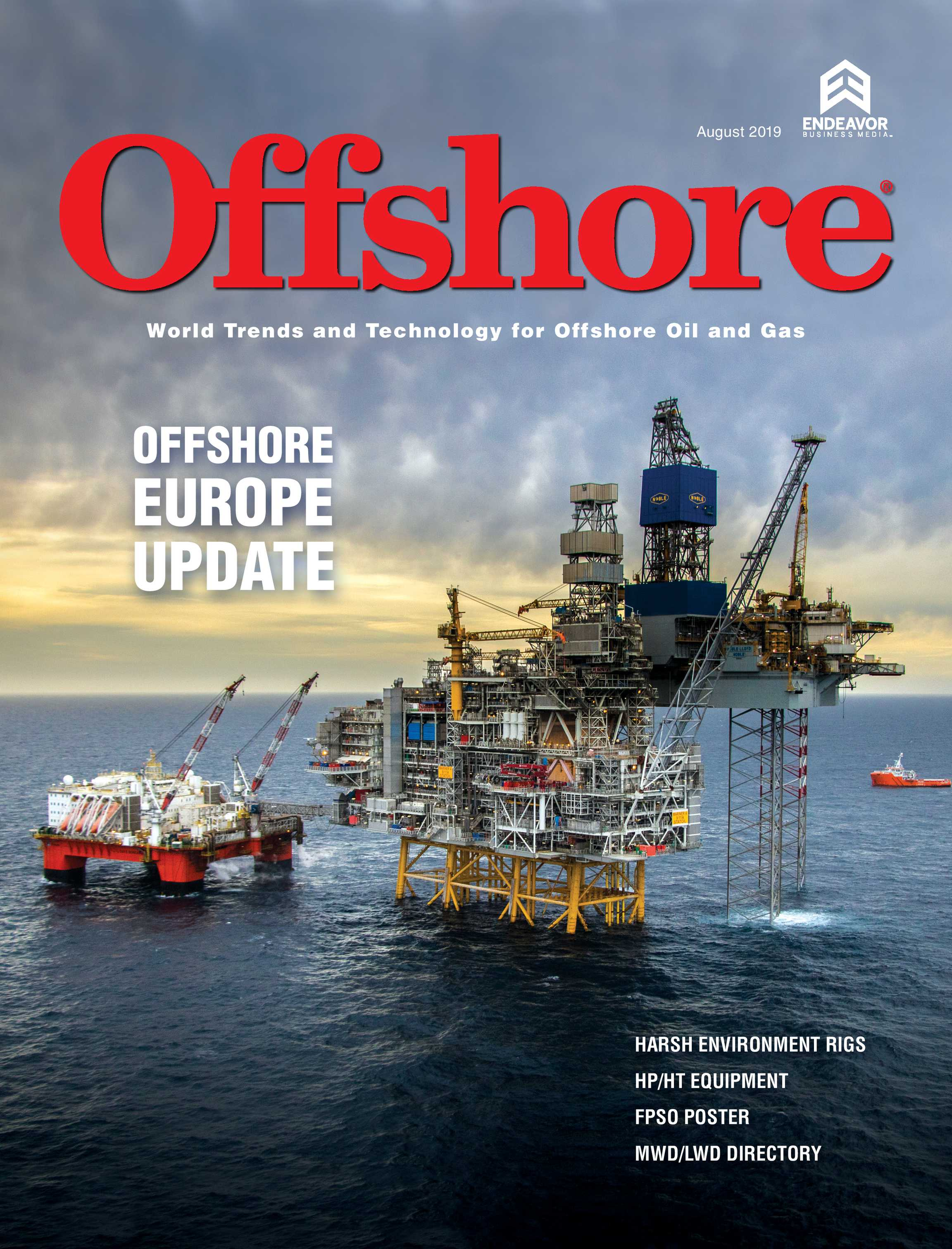 Offshore Magazine - August 2019 - page Cover