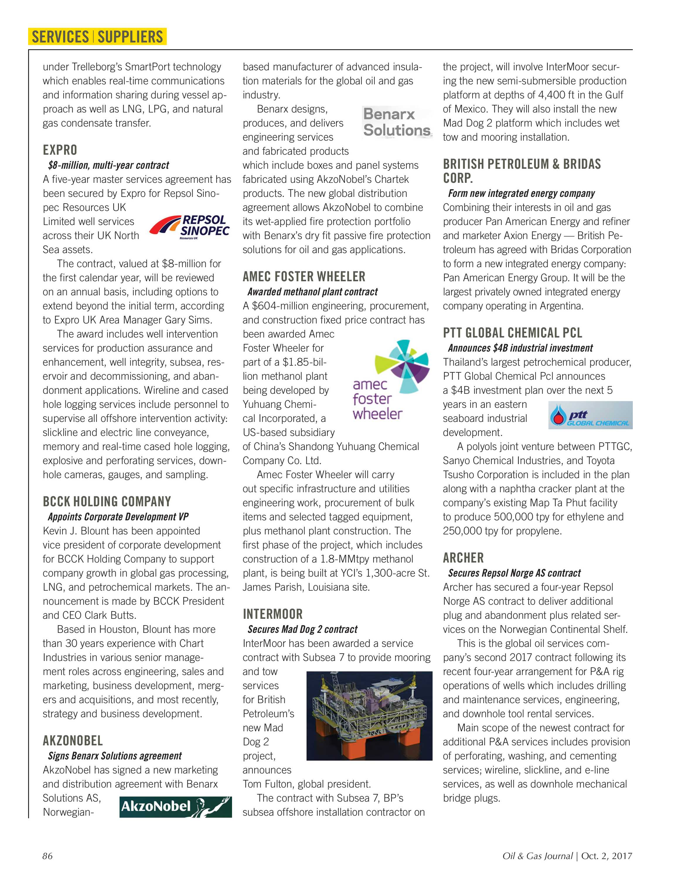 Oil & Gas Journal - October 2, 2017 - page 86