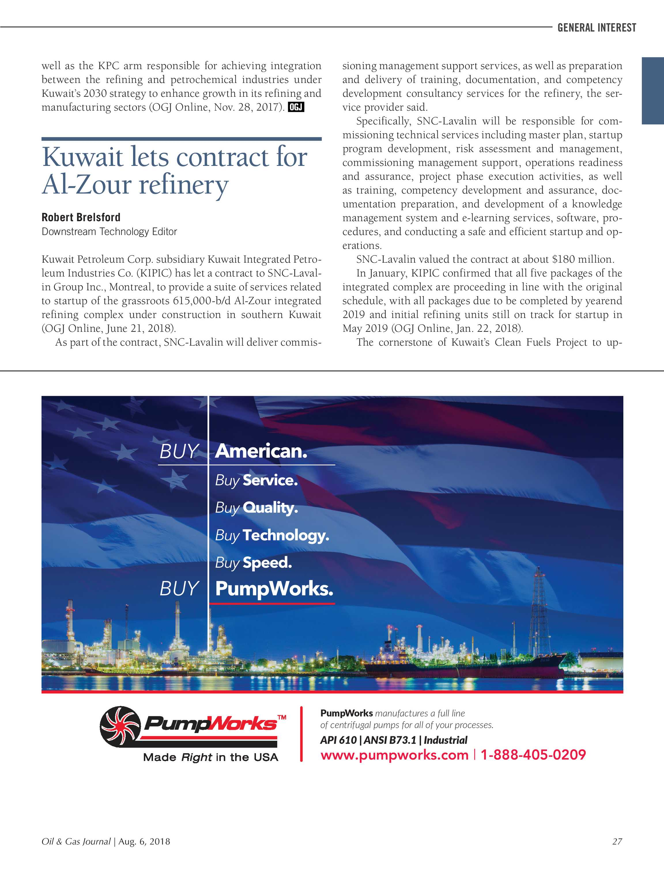 Oil & Gas Journal - August 6, 2018 - page 27