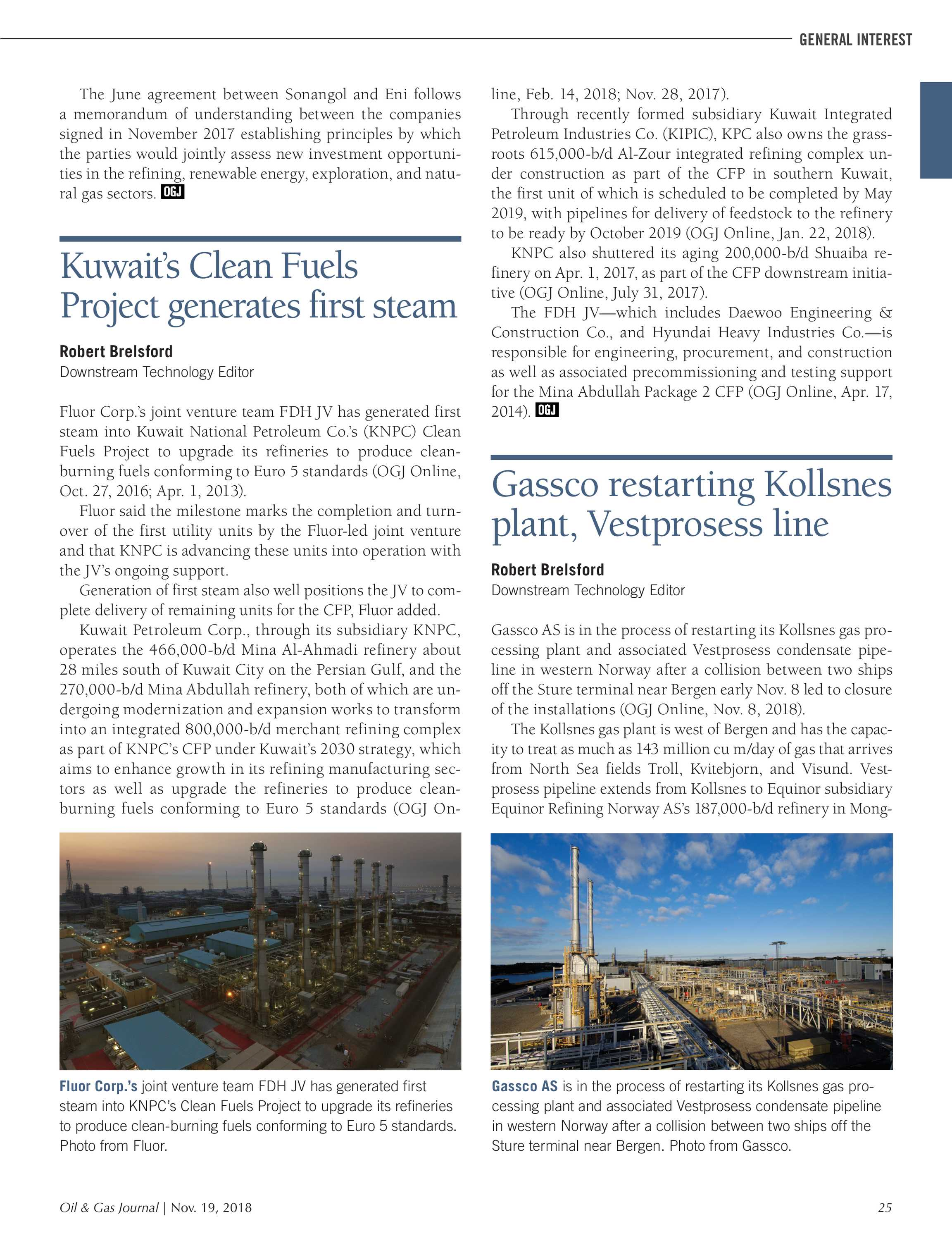 Oil & Gas Journal - November 19, 2018 - page 25