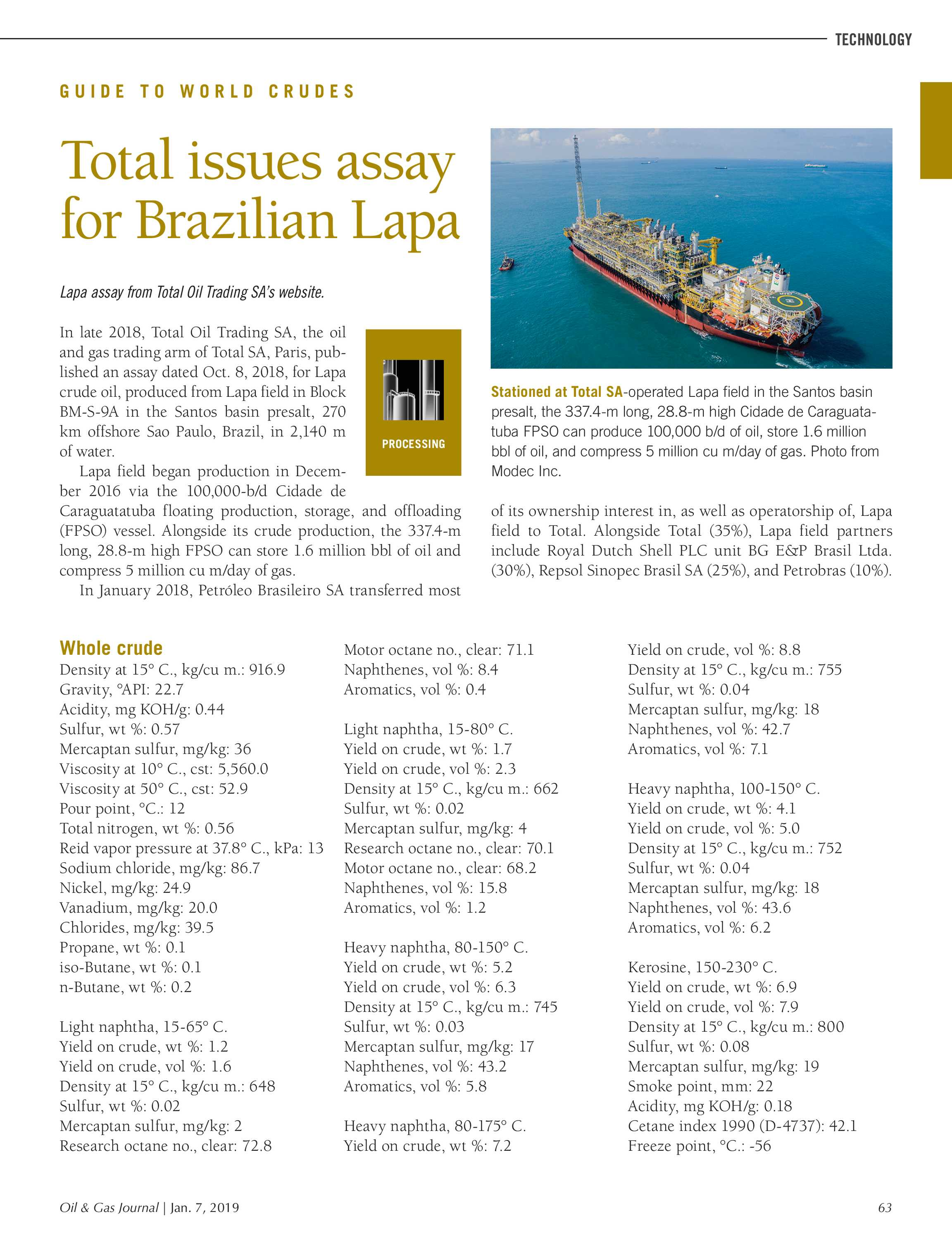 Oil & Gas Journal - January 7, 2019 - page 63