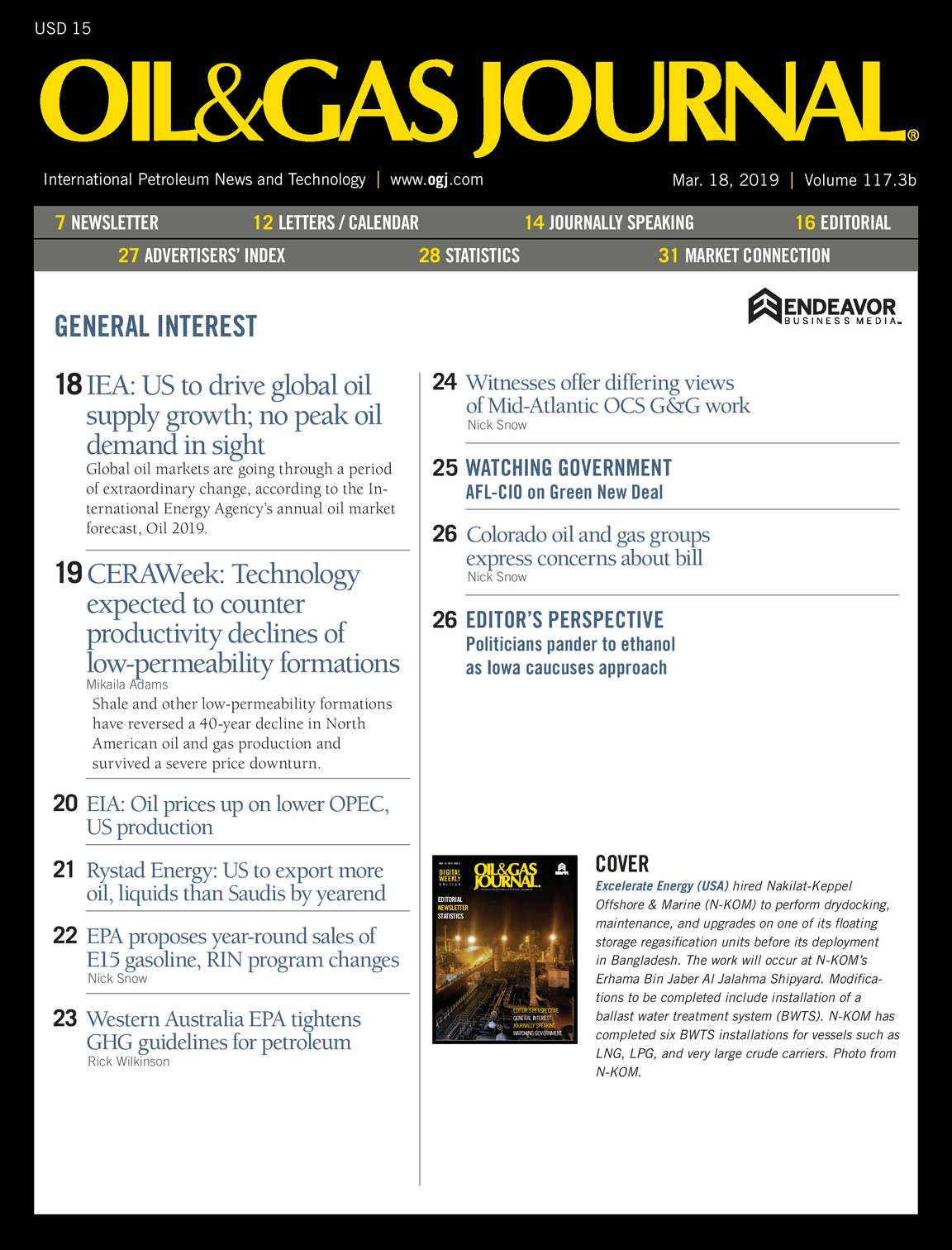 Oil & Gas Journal - March 18, 2019 - page 3