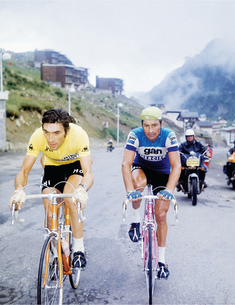 merckx and poulidor placed first and second at the 1974