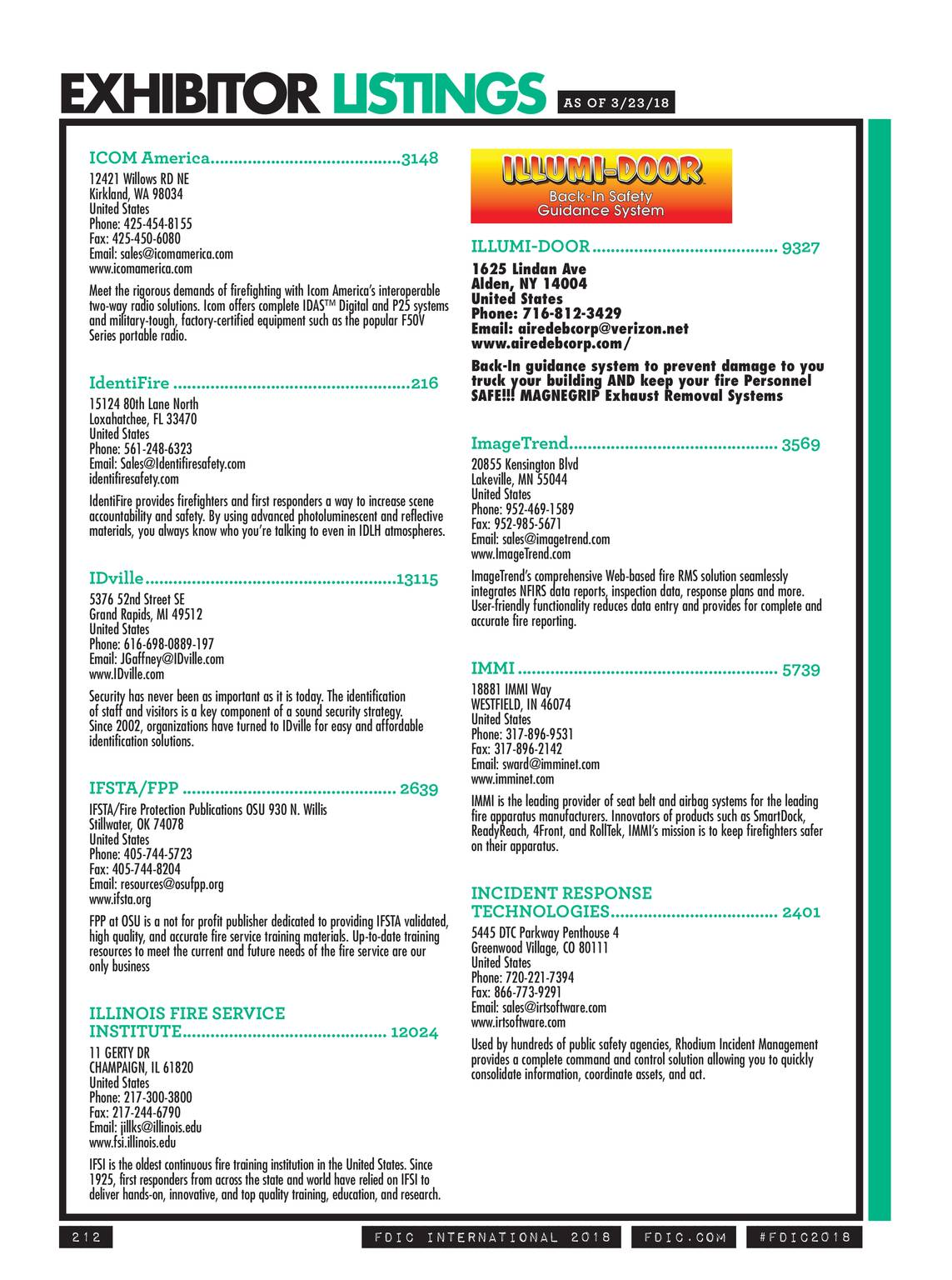 Pennwell Supplements - FDIC 2018 Show Guide - page 213
