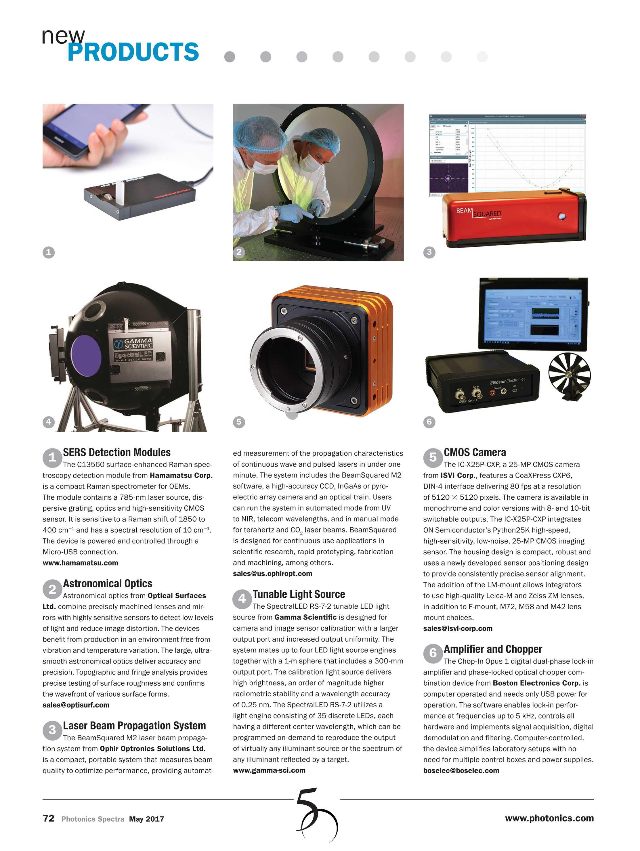 Photonics Spectra - May 2017 - page 72