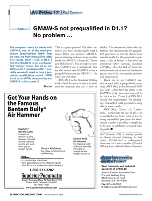 Practical Welding Today - January/February 2014 - Page 30-31
