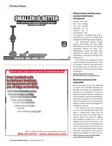 Practical Welding Today - January/February 2017 - Page 30-31