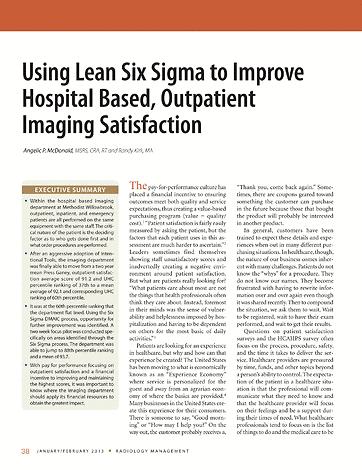 Radiology Management - January 2013