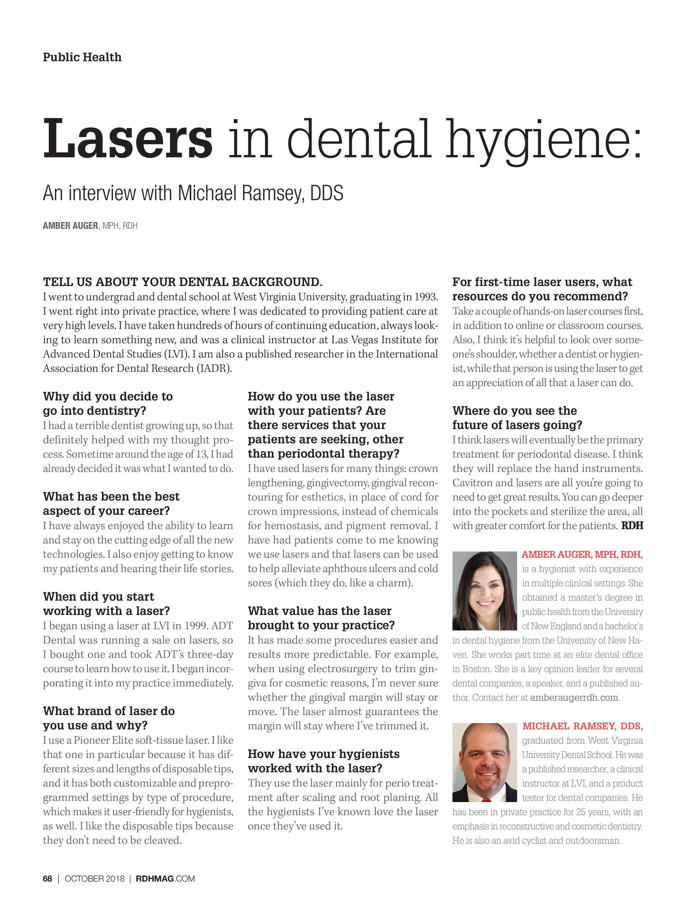 Registered Dental Hygienist - October 2018 - page 68