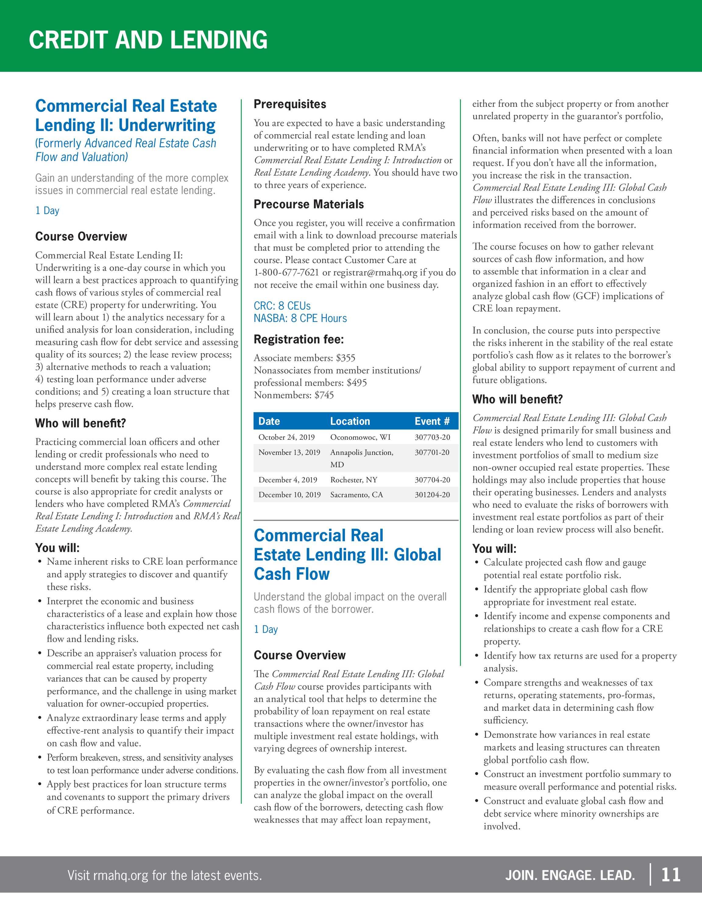 RMA Catalogs - Career Development Catalog September 2019