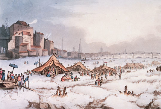 a fair is held in london on the frozen thames