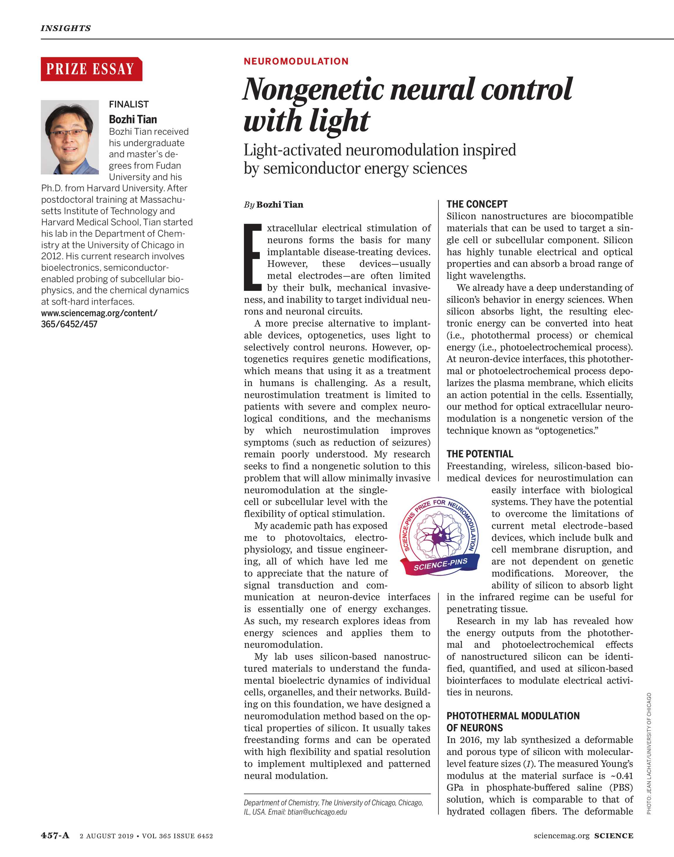 Science Magazine - August 2, 2019 - page 457-A
