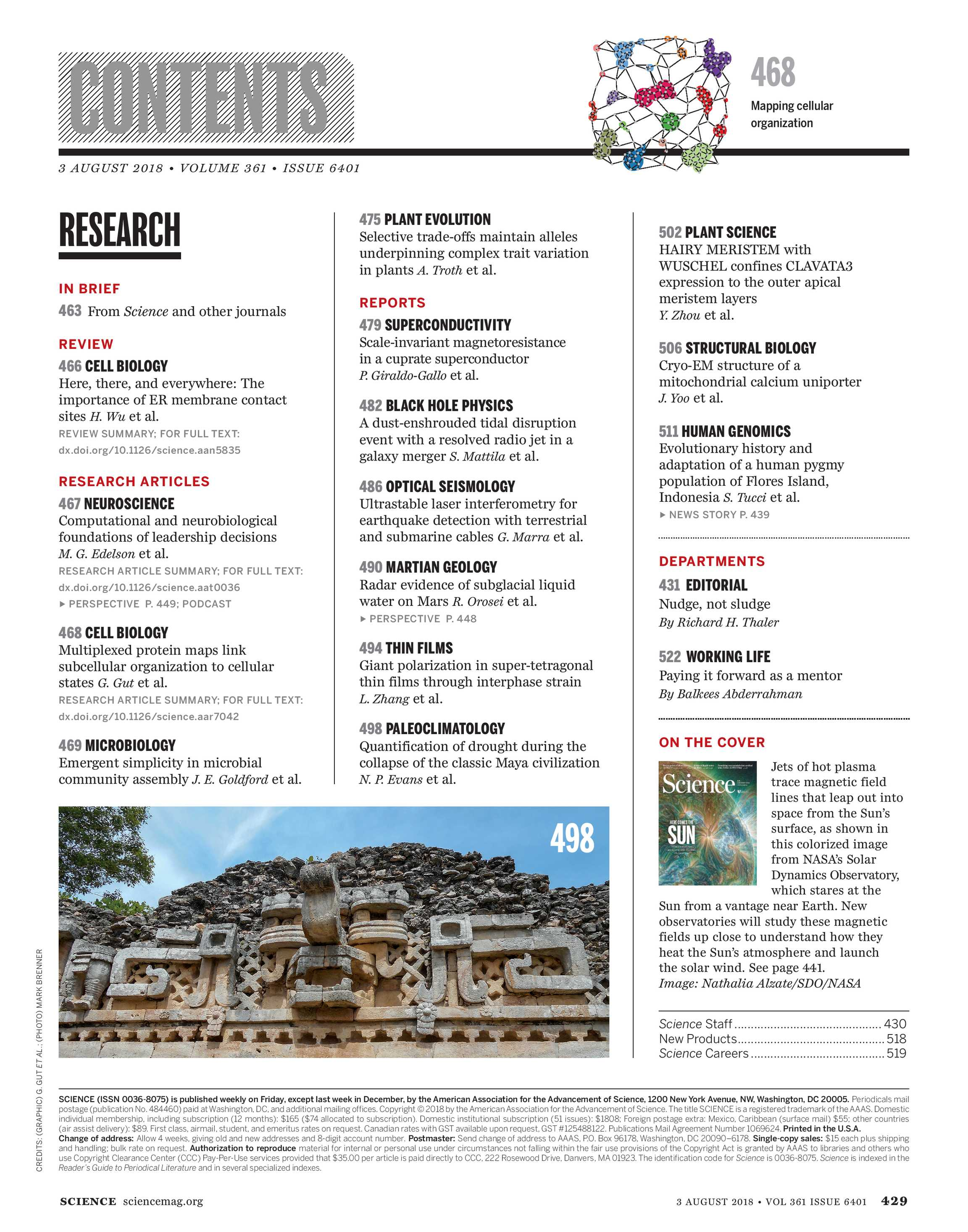Science Magazine - August 3, 2018 - page 430