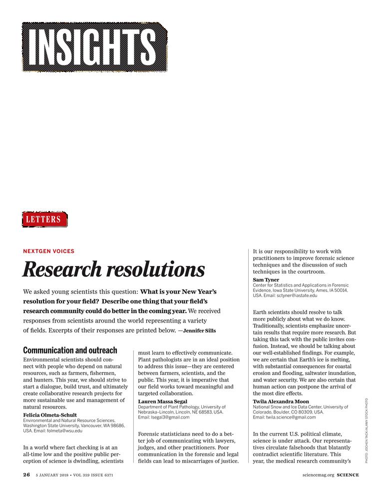 Science Magazine - January 5, 2018 - Page 26
