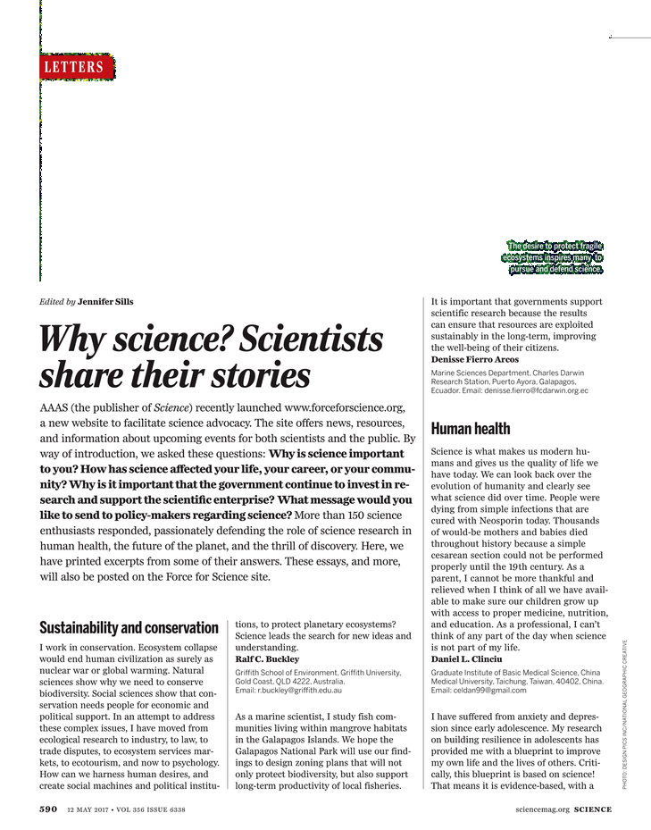 Science Magazine - May 12, 2017 - Page 590