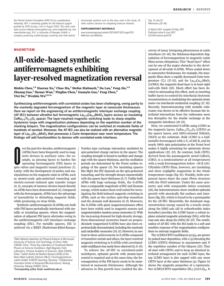 Science Magazine - July 14, 2017 - Page 191