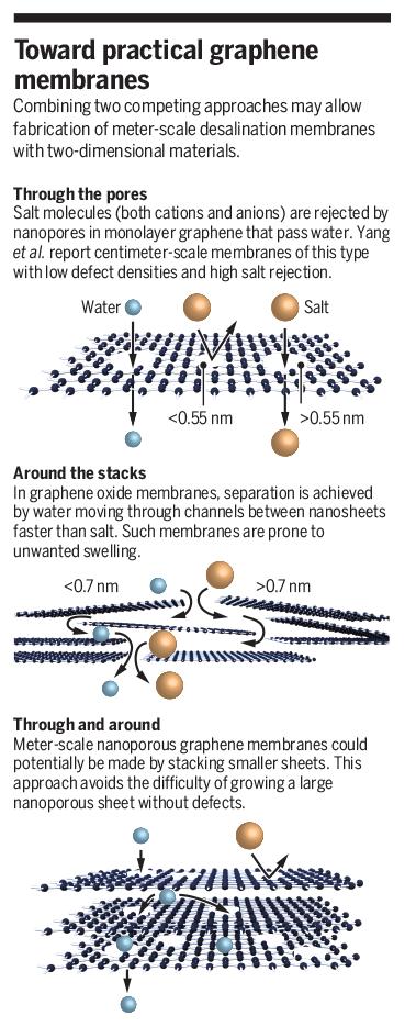 Science Magazine - June 14, 2019 - Scaling up nanoporous graphene