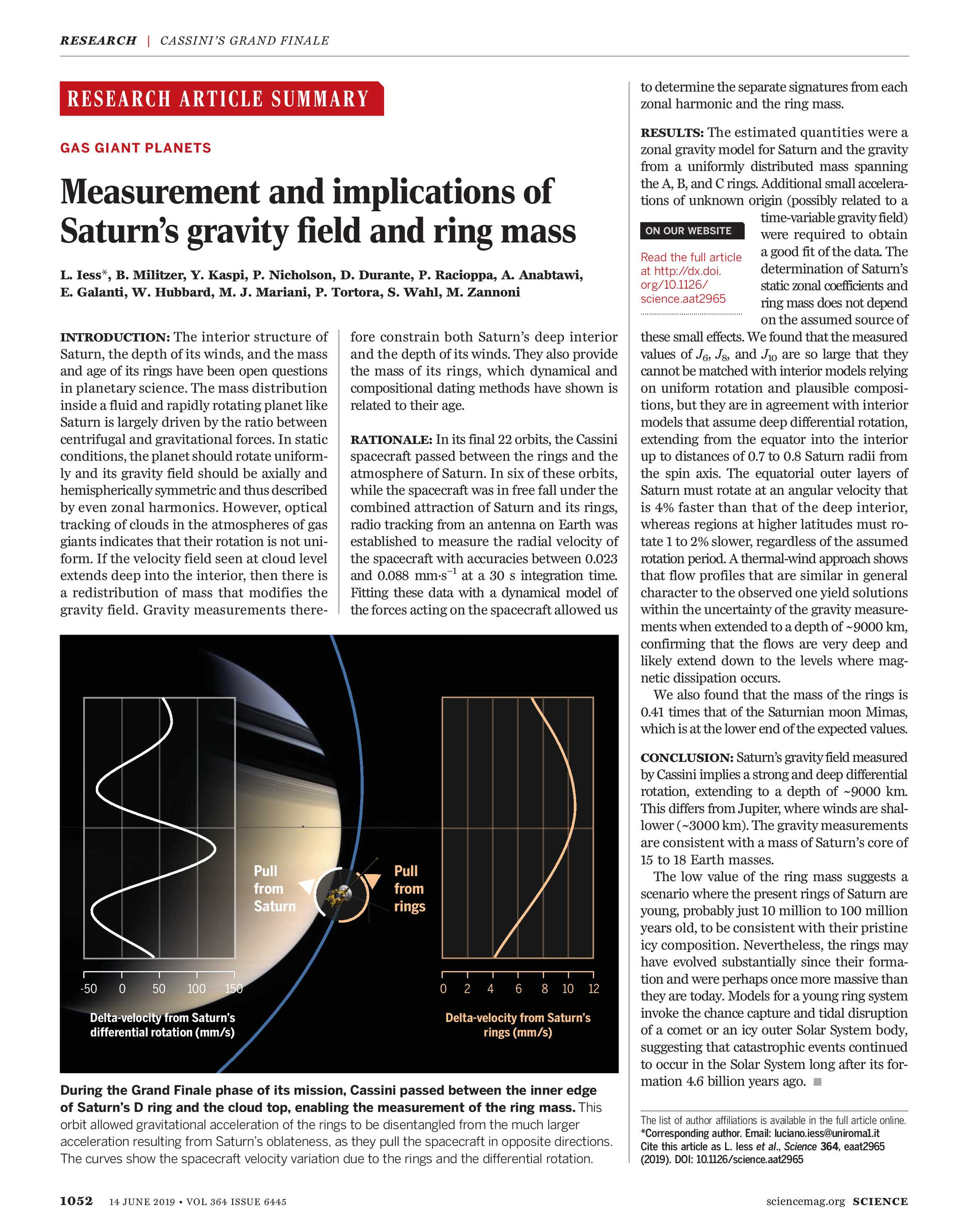 Science Magazine - June 14, 2019 - page 1052