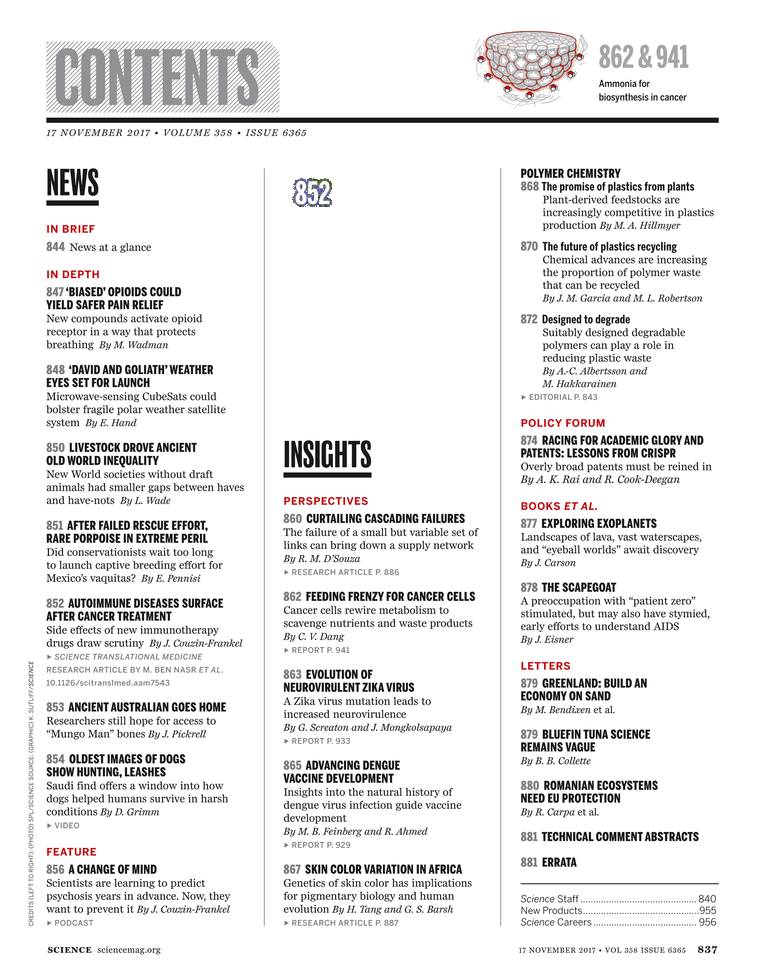 Science Magazine - November 17, 2017 - Page 837