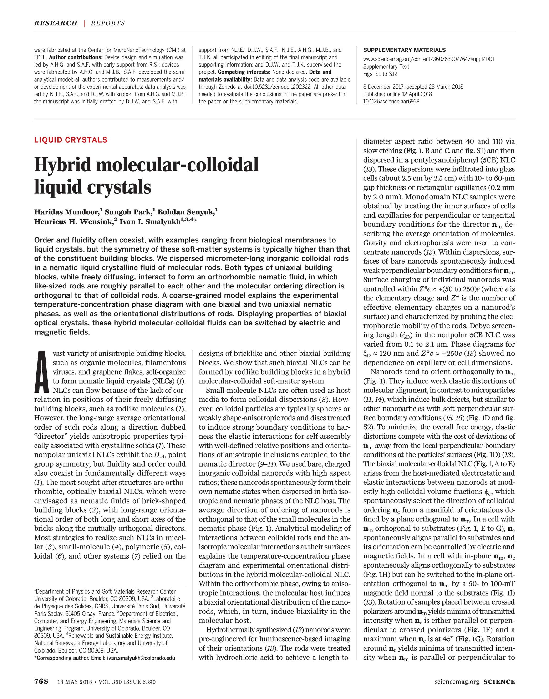 Science Magazine - May 18, 2018 - page 768