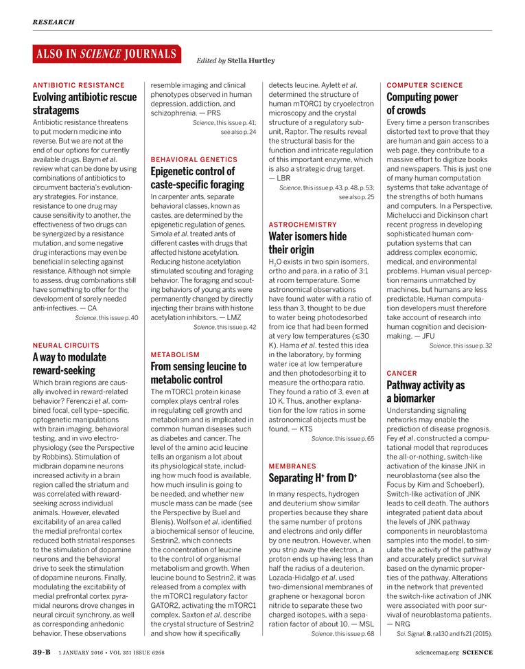 Science Magazine - 1 January 2016 - Page 39