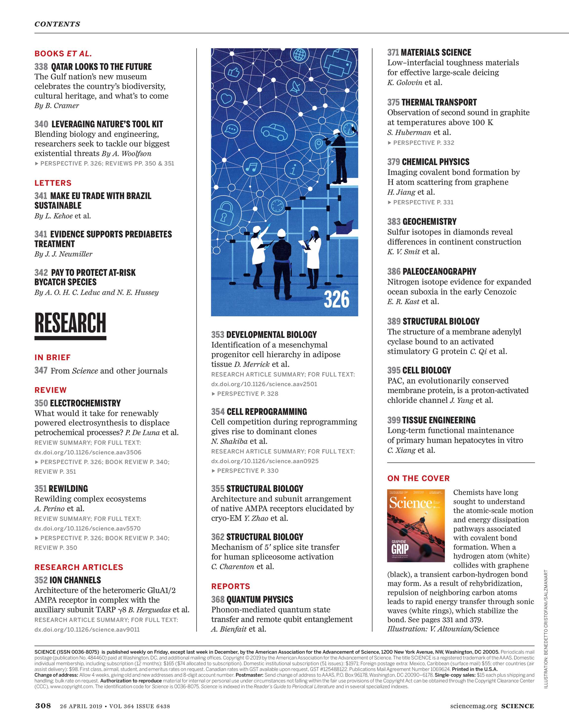 Science Magazine - April 26, 2019 - page Cover