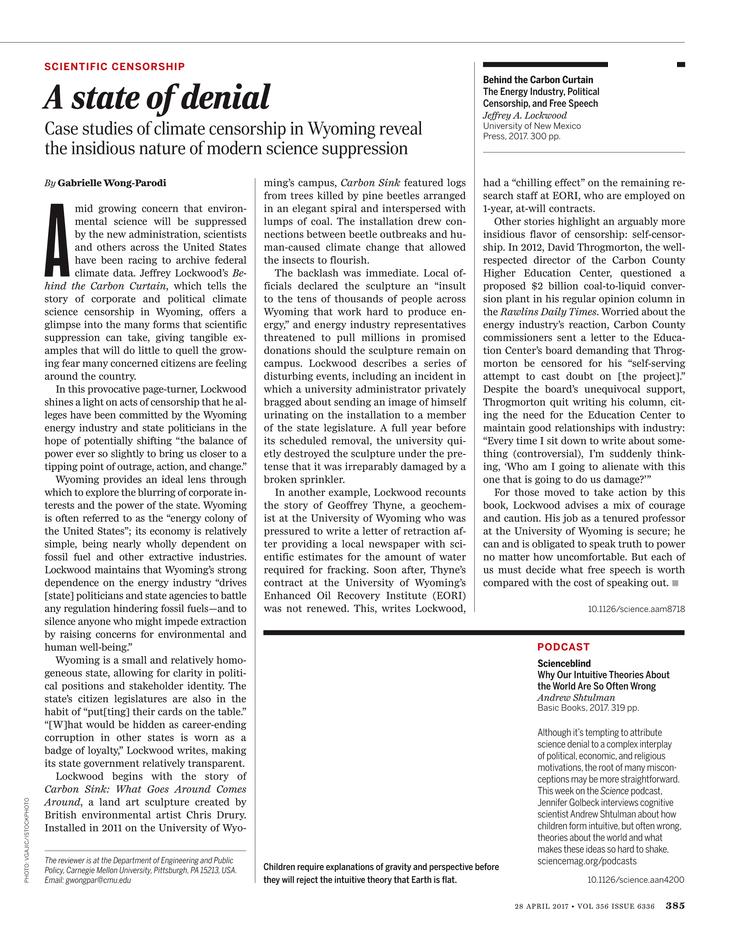 Science Magazine - April 28, 2017 - Page 385