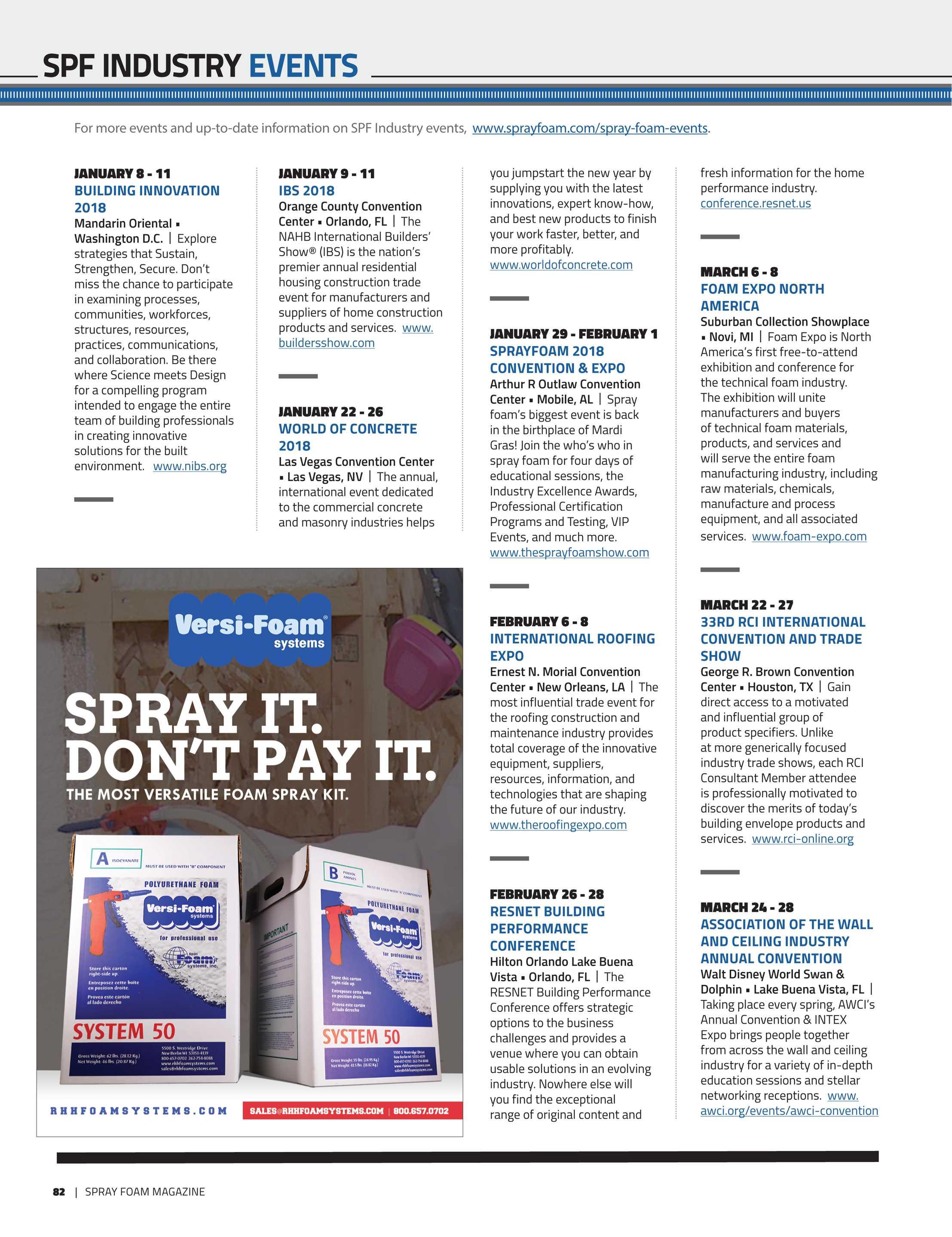 Spray Foam Magazine - JanFeb2018 - page 82