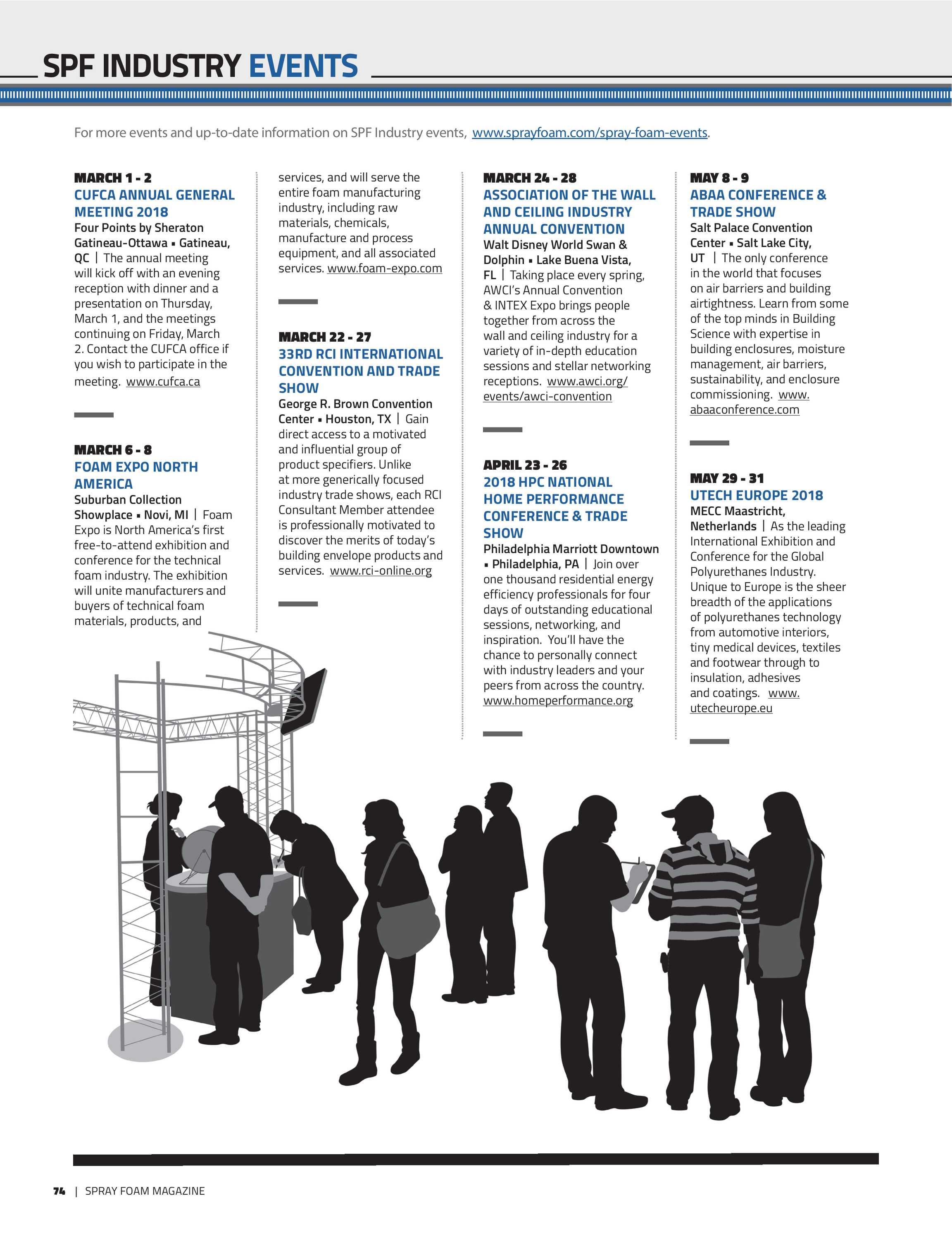 Spray Foam Magazine - MarApr2018 - page 74