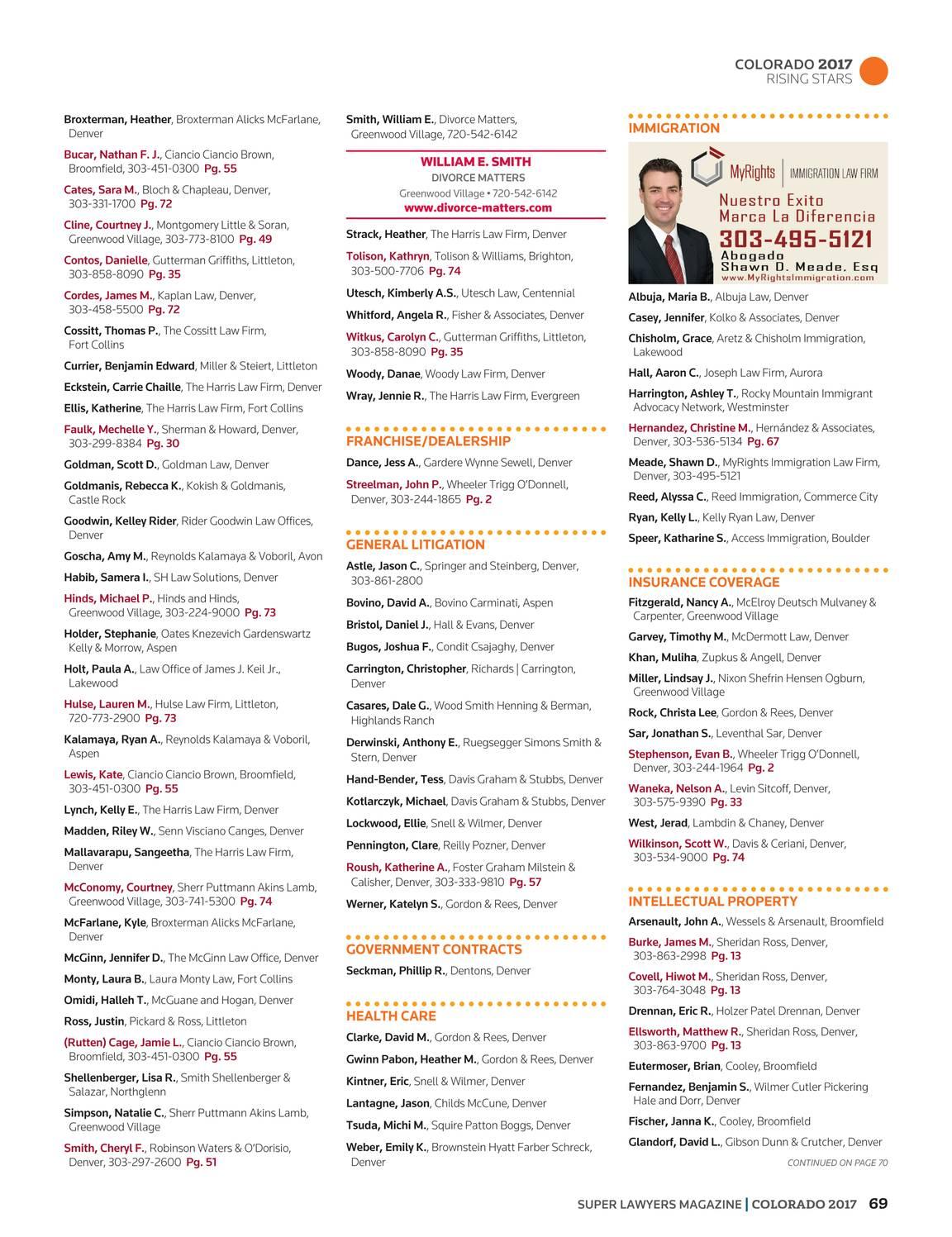 Super Lawyers Colorado 2017 Page 69