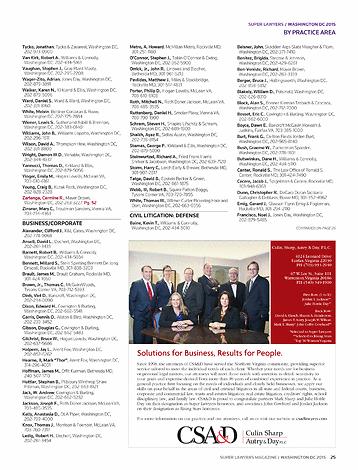 Super Lawyers Washington Dc 2015 Page 25