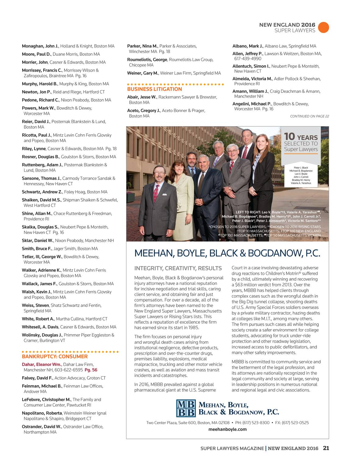Super Lawyers - New England 2016 - page 20