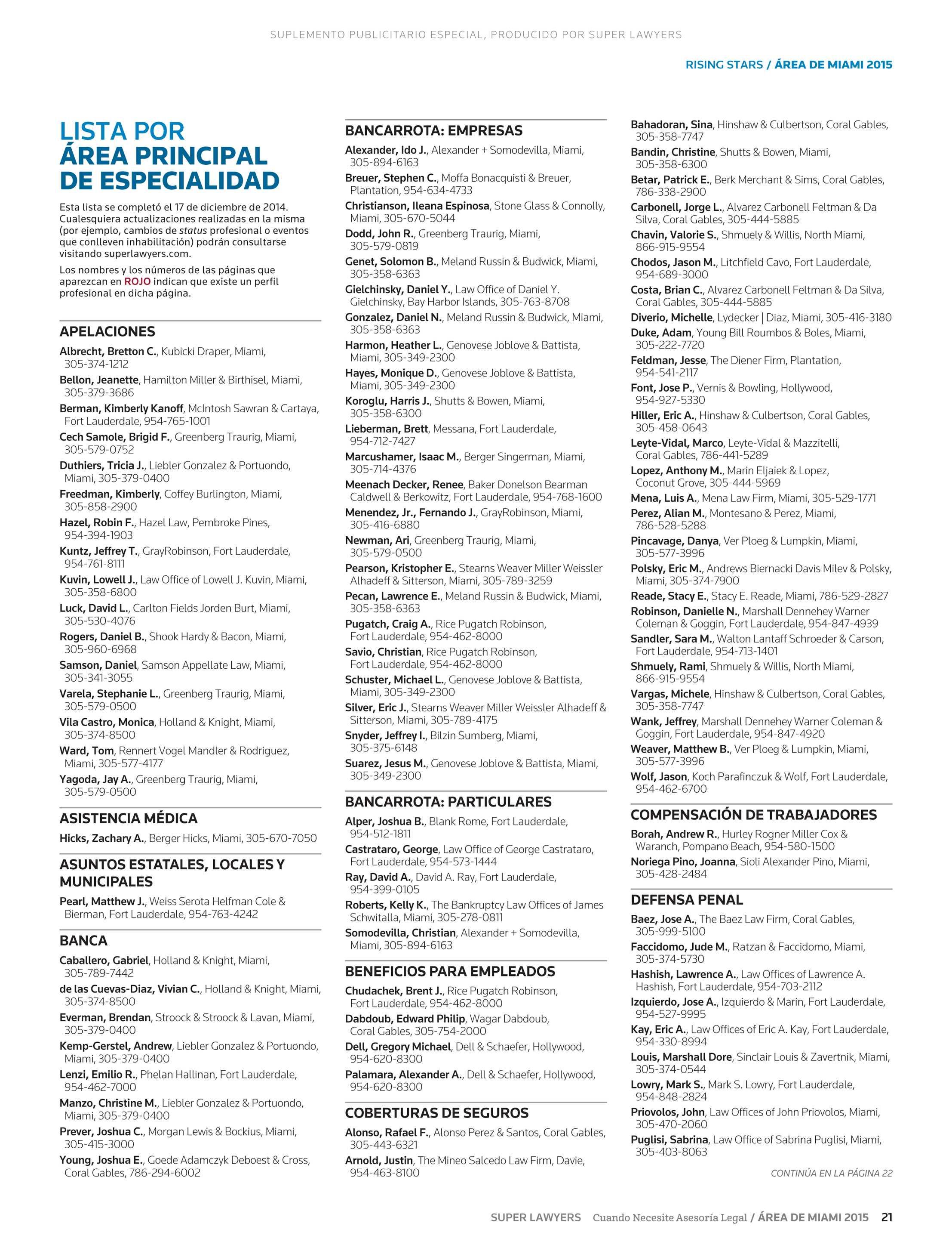 Super Lawyers - Área de Miami 2015 - page 21