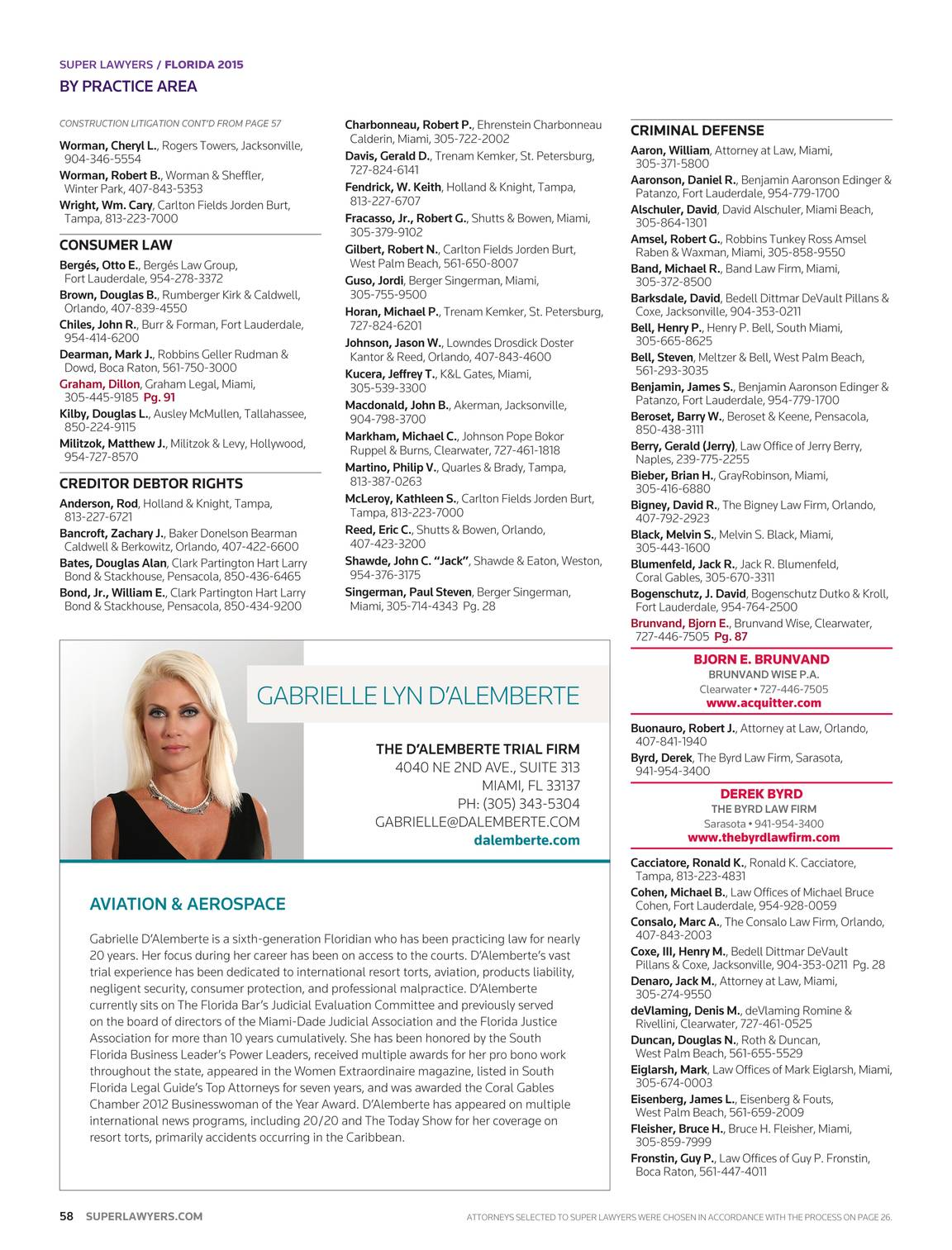 Super Lawyers - Florida 2015 - page 57