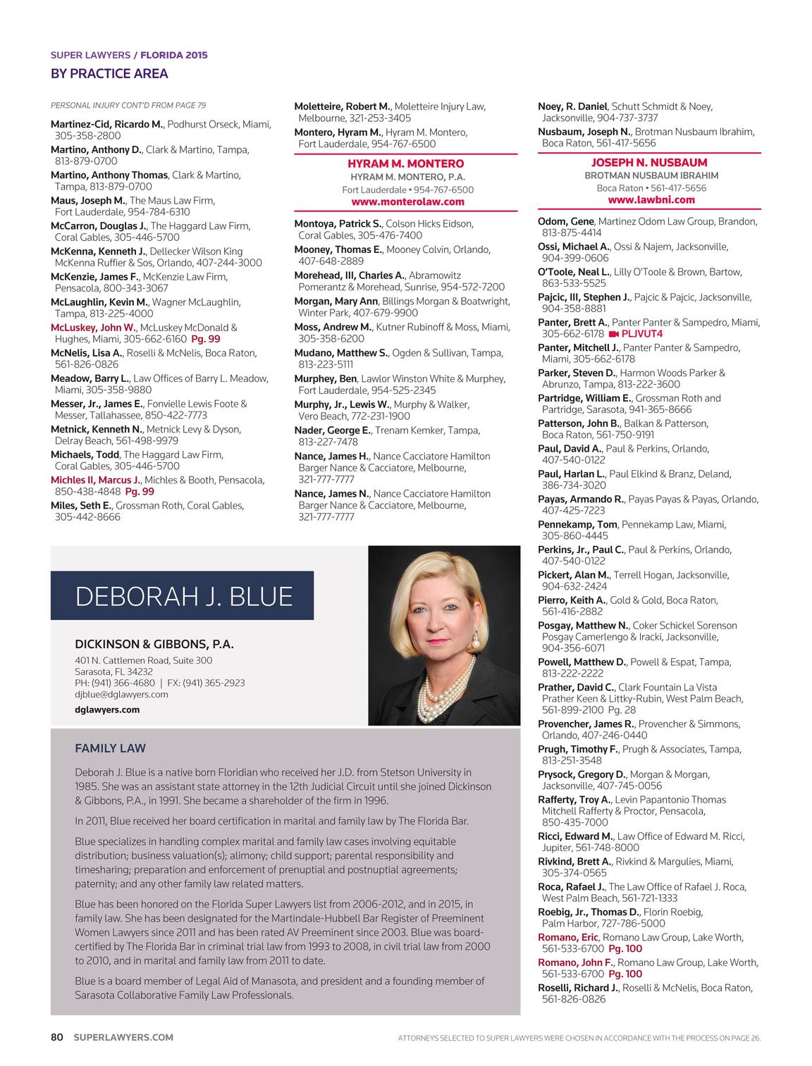 Super Lawyers Florida 2015 Page 79