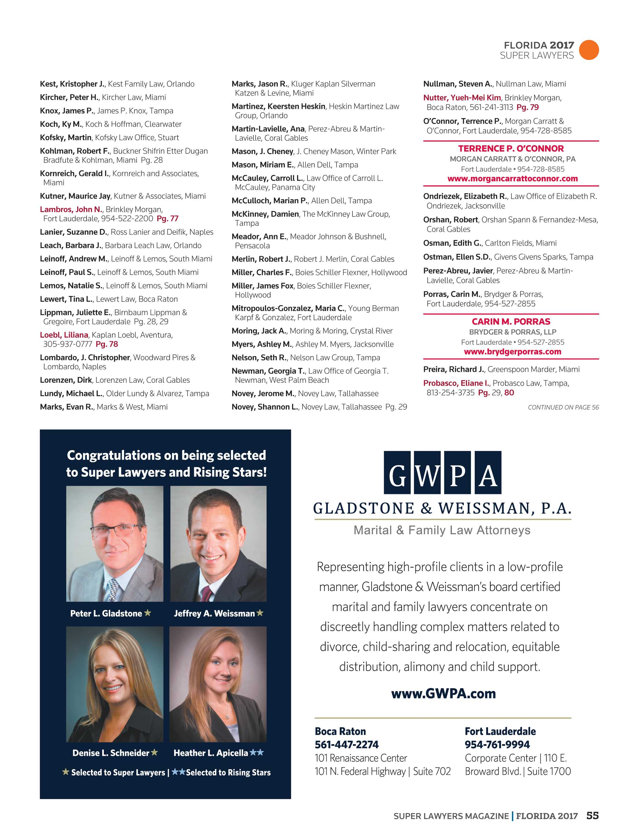 Super Lawyers - Florida 2017 - page 55