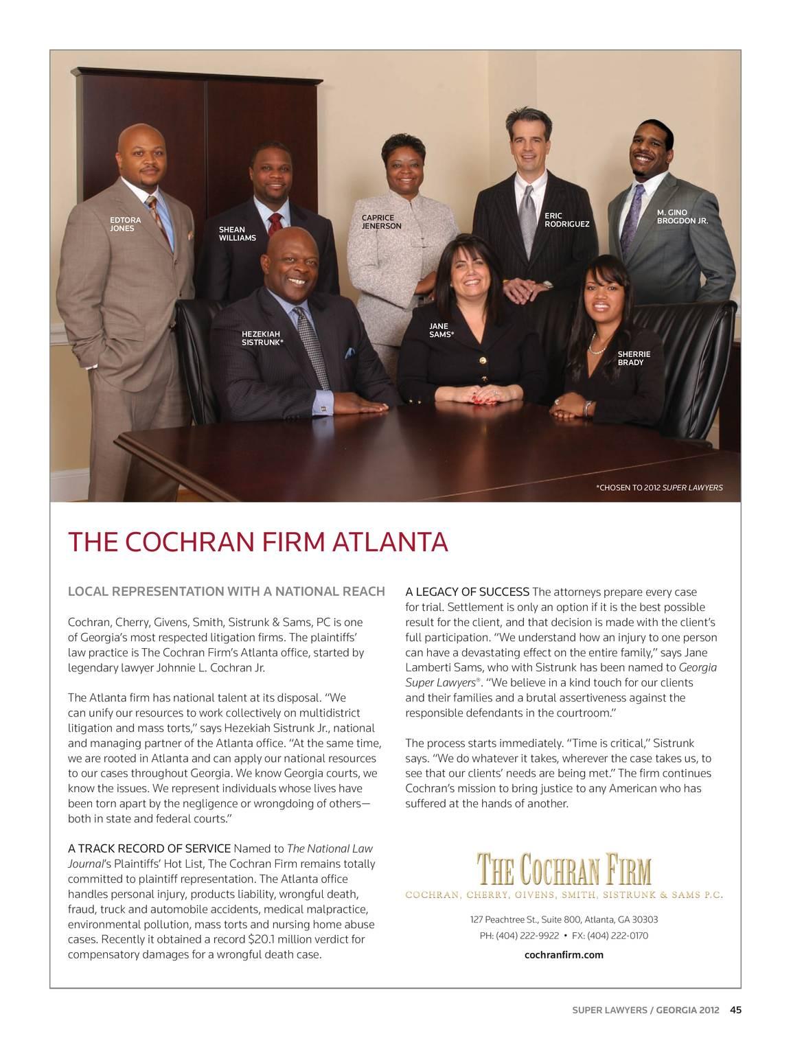Super Lawyers - Georgia 2012 - page 44