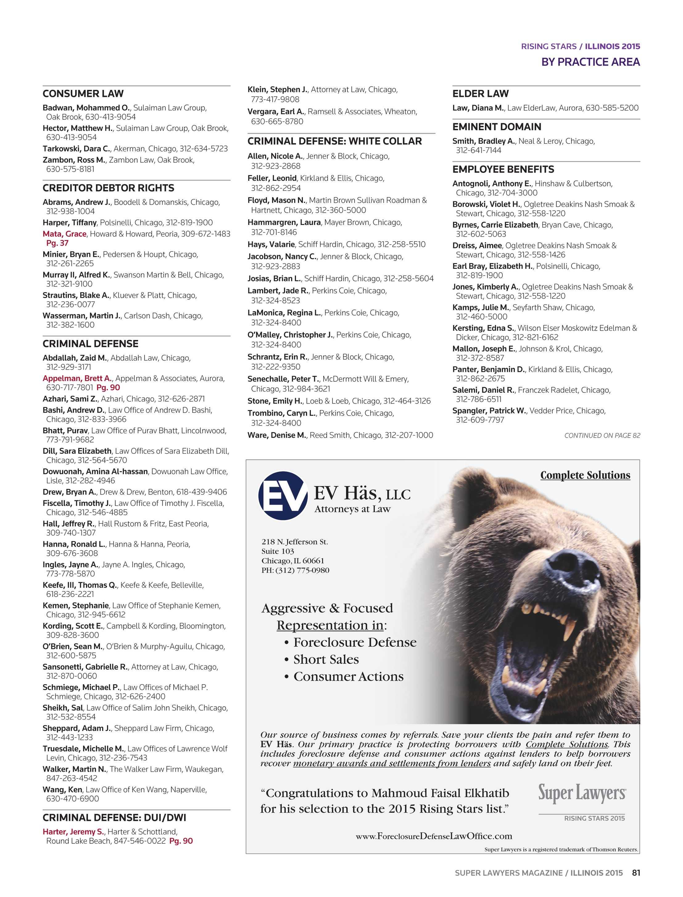 Super Lawyers - Illinois 2015 - page 81