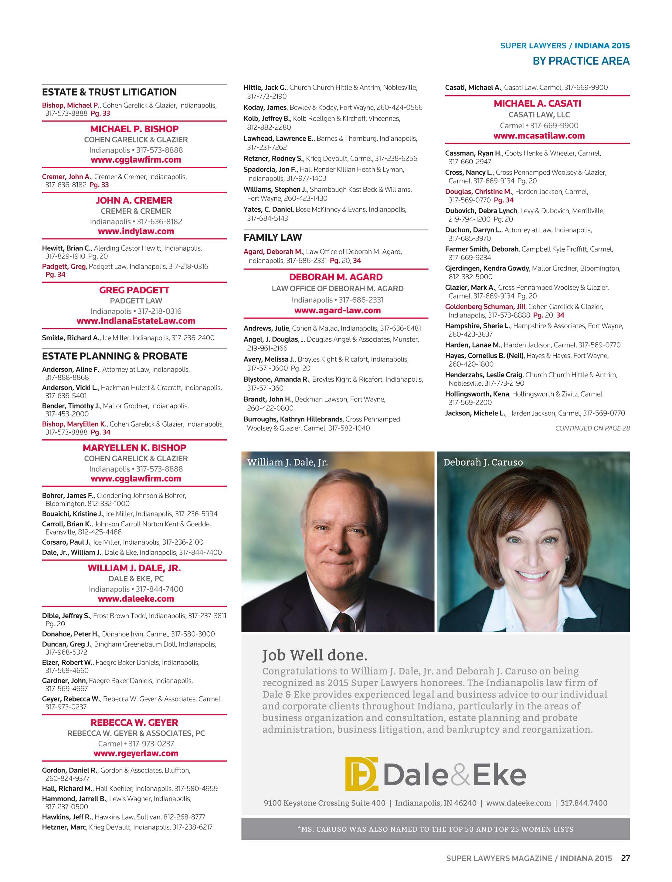 Super Lawyers - Indiana 2015 - page 27