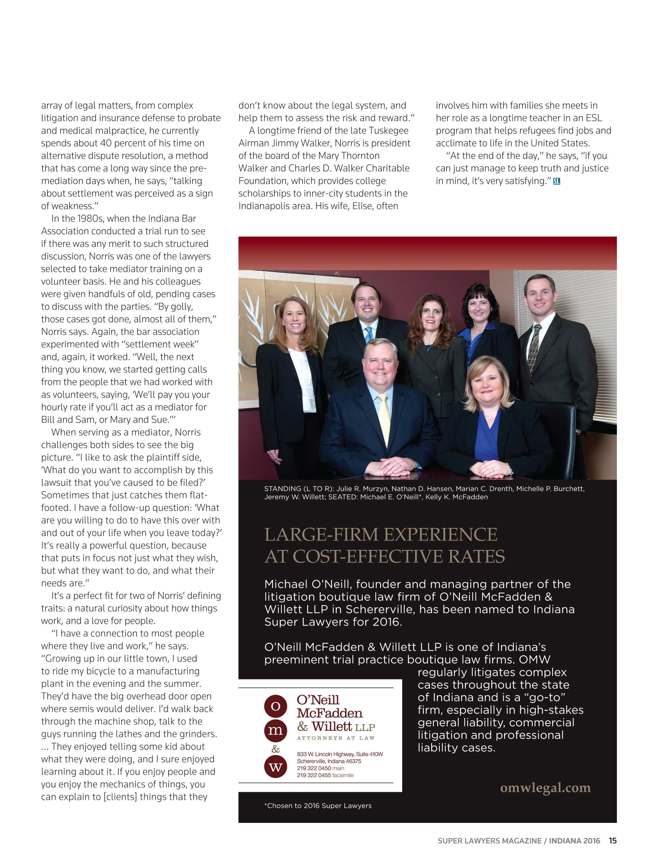 Super Lawyers - Indiana 2016 - page 15
