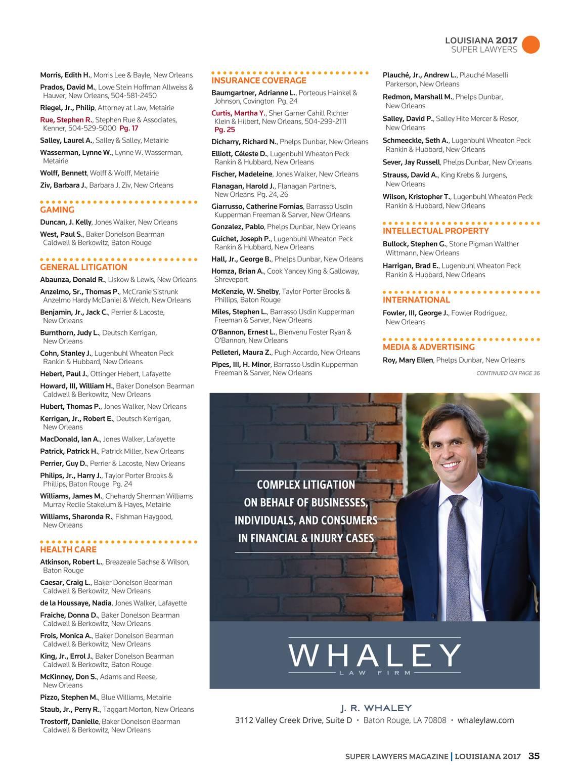 Super Lawyers Louisiana 2017 Page 35
