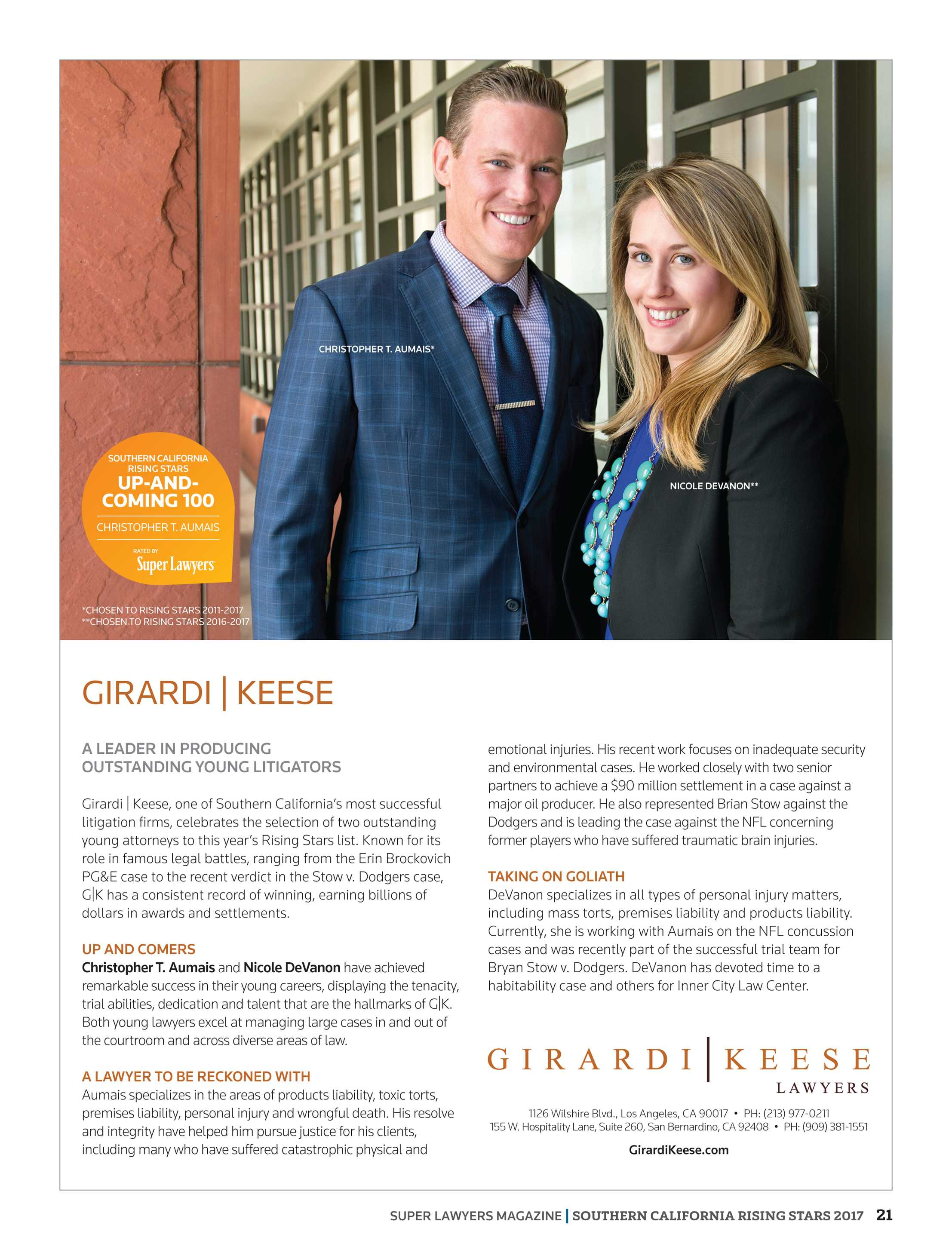 Super Lawyers - Southern California Rising Stars 2017 - page 21