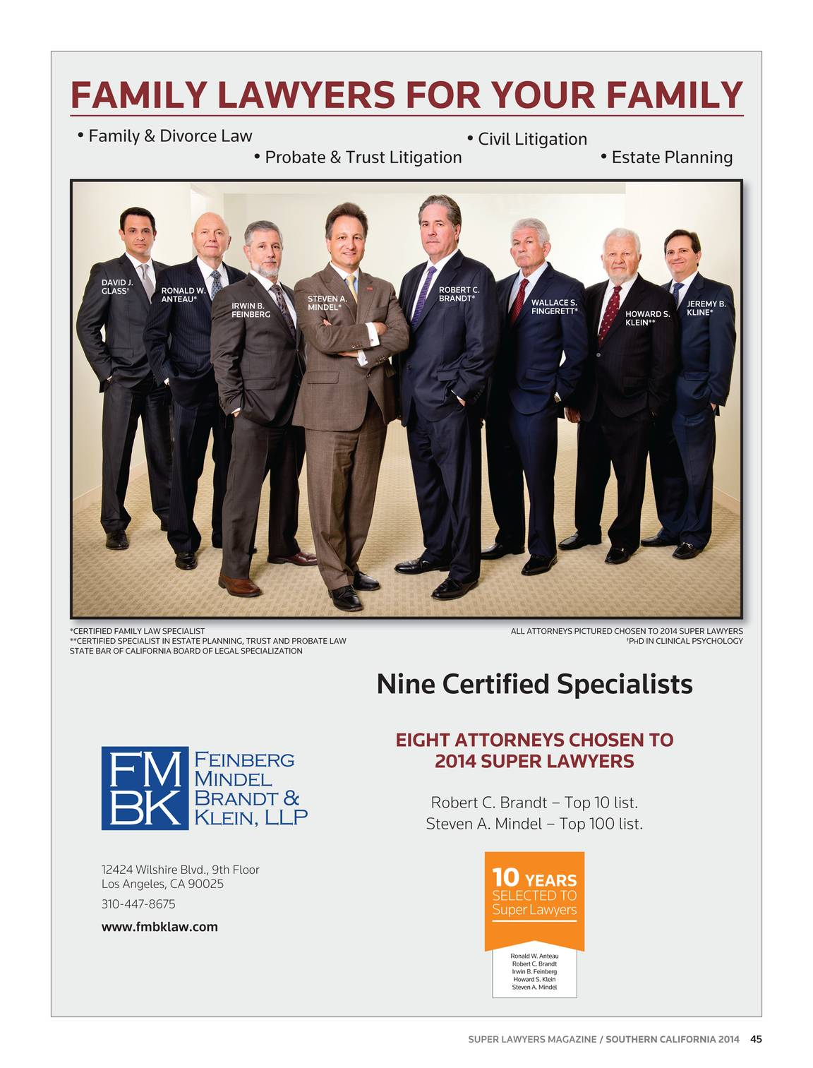 Super Lawyers - Southern California 2014 - page 44