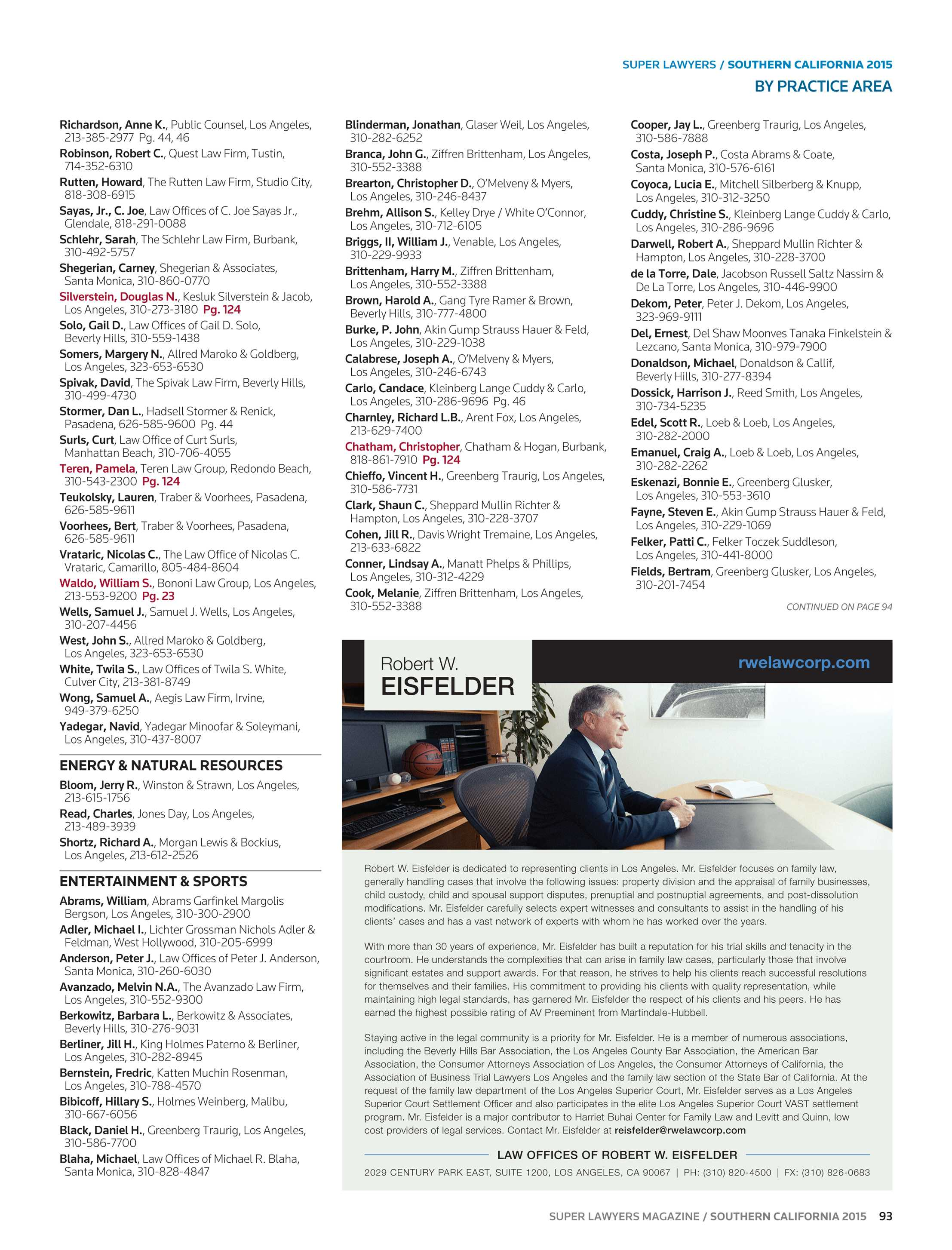 Super Lawyers - Southern California 2015 - page 93