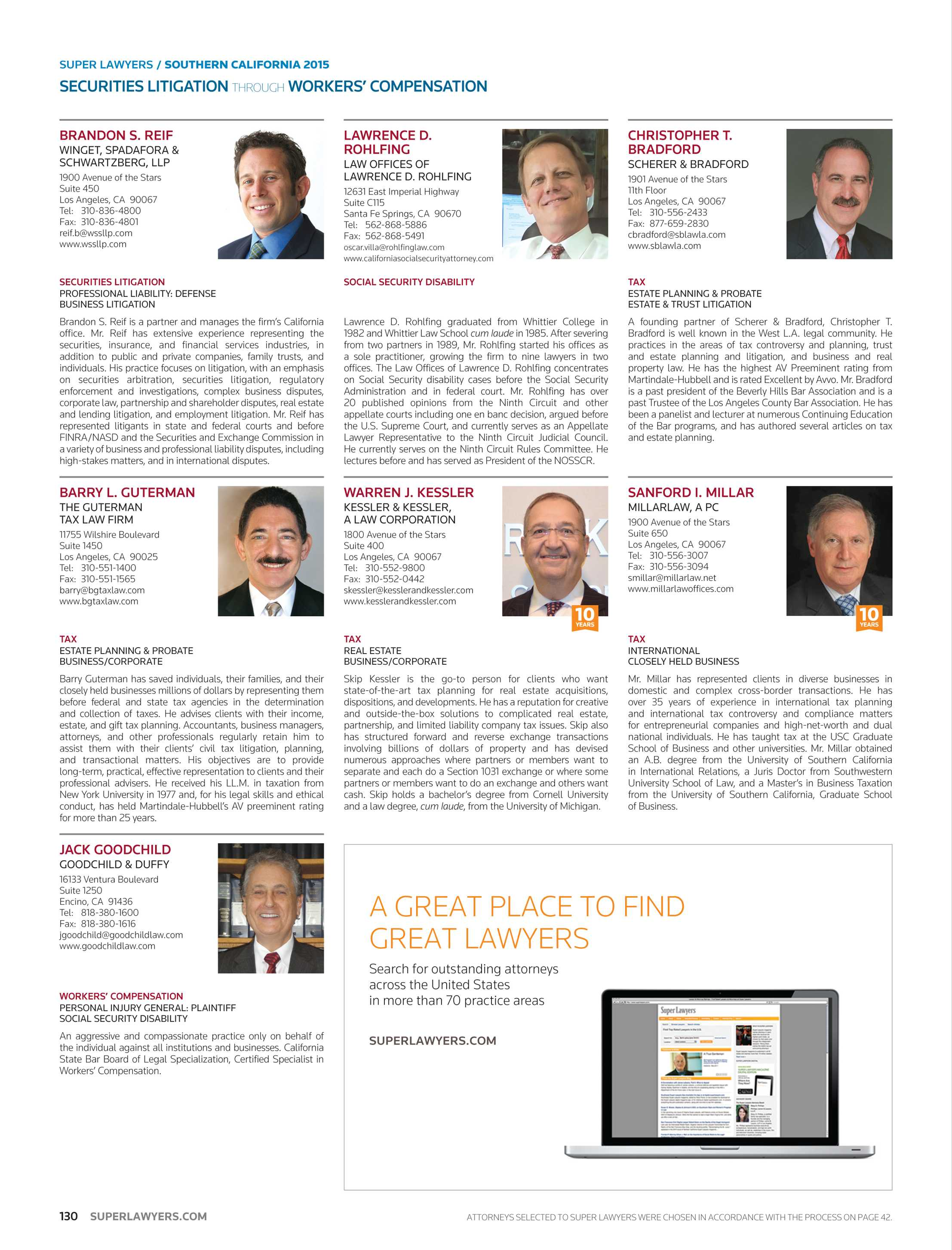 Super Lawyers Southern California 2015 Page 130