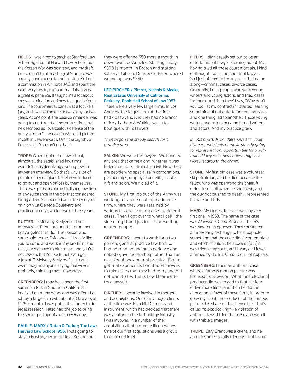 Super Lawyers - Southern California 2016 - page 42
