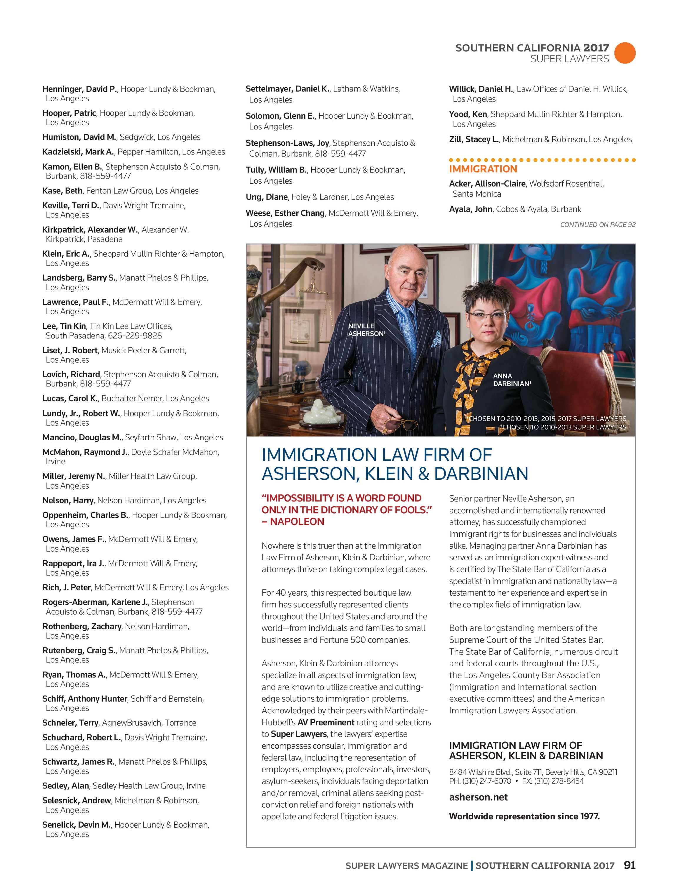 Super Lawyers - Southern California 2017 - page 91