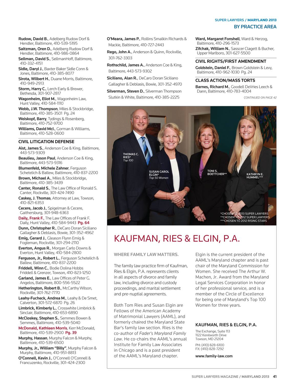 Super Lawyers - Maryland 2013 - page 42