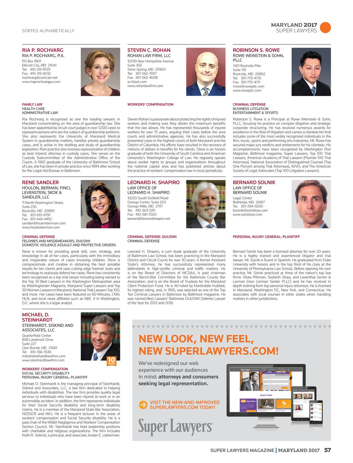Super Lawyers - Maryland 2017 - page 56