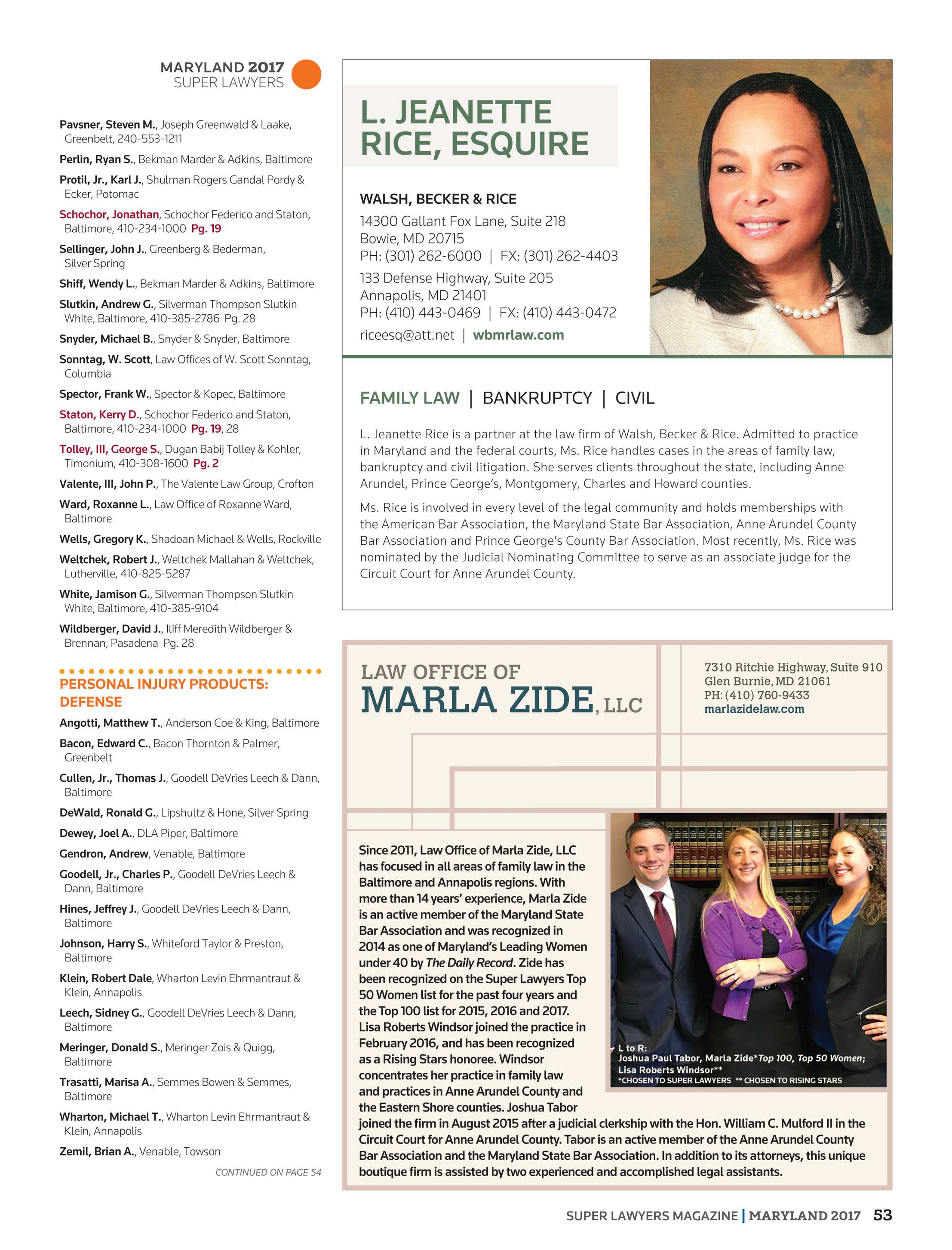 Super Lawyers - Maryland 2017 - page 53